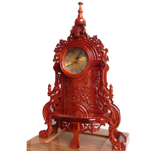 Đồng hồ để bàn vỏ gỗ 1