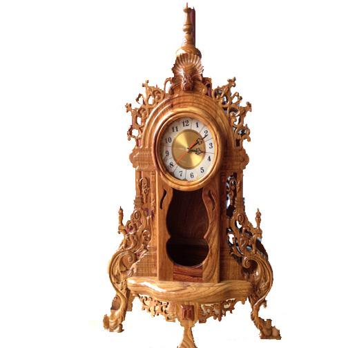 Đồng hồ để bàn vỏ gỗ 2