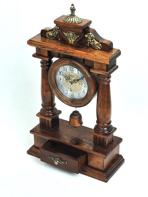 Đồng hồ để bàn vỏ gỗ 5
