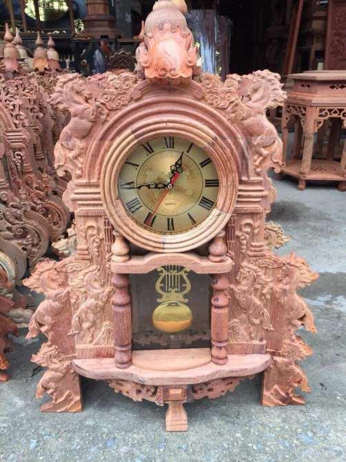 gia công đồng hồ để bàn vỏ gỗ